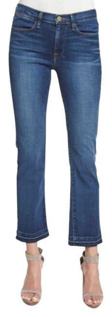 Item - Blue Light Wash High Crop In Thrasher Straight Leg Jeans Size 24 (0, XS)