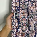 Apana Blue Purple Patterned Crop Leggings Size 8 (M, 29, 30) Apana Blue Purple Patterned Crop Leggings Size 8 (M, 29, 30) Image 3