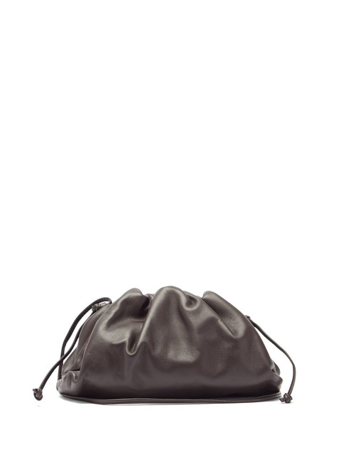 Item - Mf The Pouch Small Dark Brown Leather Clutch