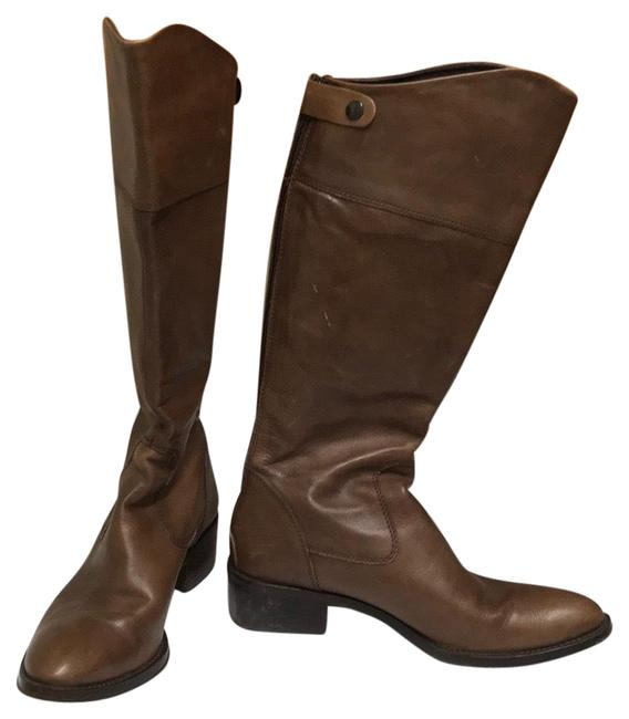 Item - Brown Leather Tall Boots/Booties Size US 9 Regular (M, B)