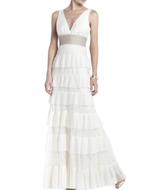 Item - White Carly Layered Lace Gown Sexy Wedding Dress Size 6 (S)