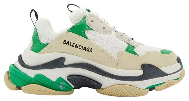Item - Green Mf Triple S Leather and Mesh Trainers Sneakers Size EU 41 (Approx. US 11) Regular (M, B)