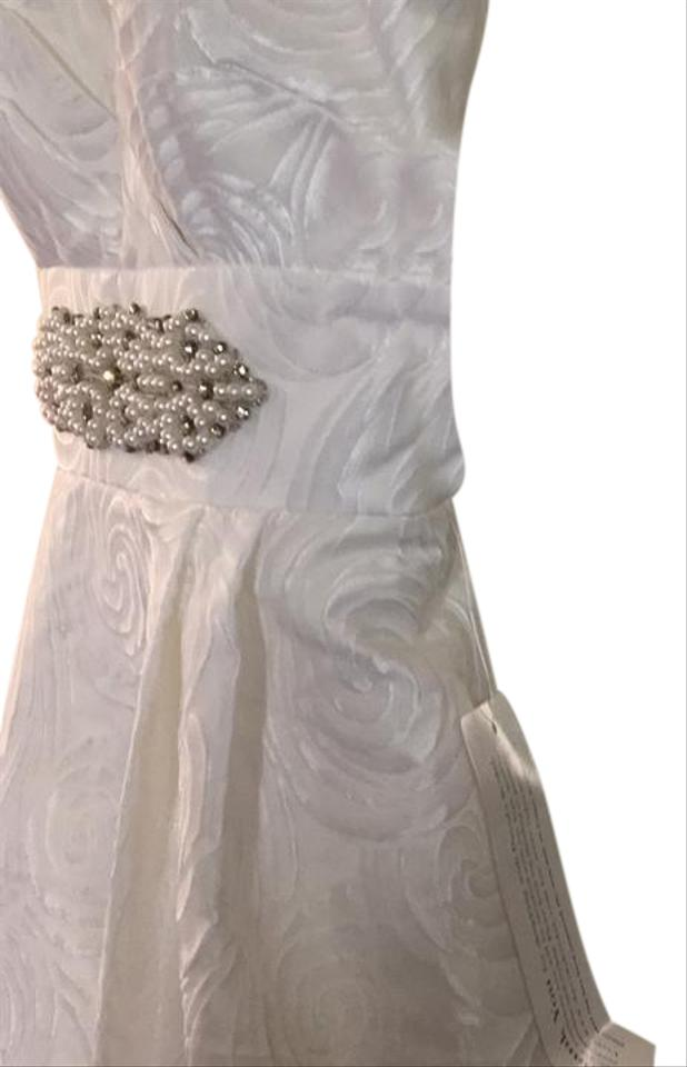 Davids Bridal White Ven Long Formal Dress Size 2 Xs Tradesy