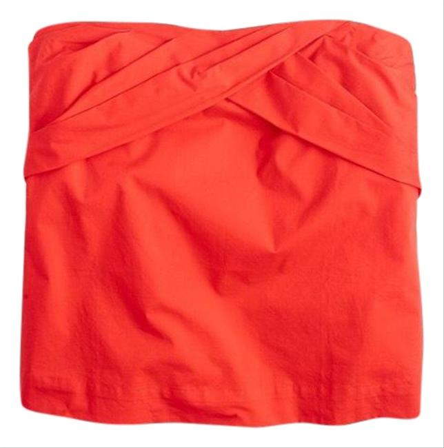 Item - Red Strapless Cross-front Halter Top Size 6 (S)