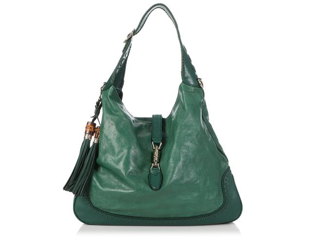Item - Jackie New Large Green Leather Hobo Bag