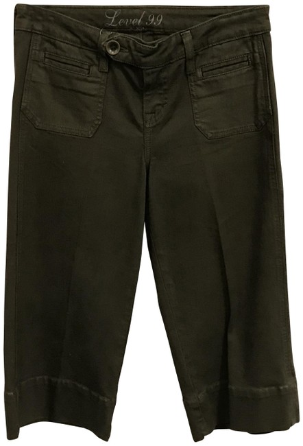 Item - Dark Olive Rinse Four-pocket Capri/Cropped Jeans Size 27 (4, S)