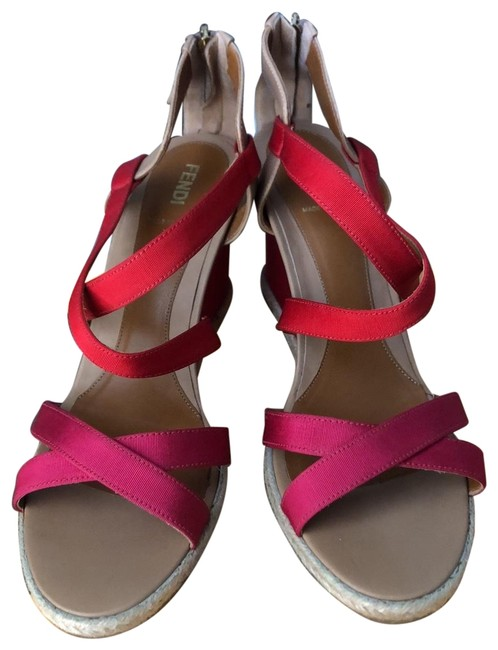 Item - Pink and Red Summer Wedges Size EU 40 (Approx. US 10) Regular (M, B)