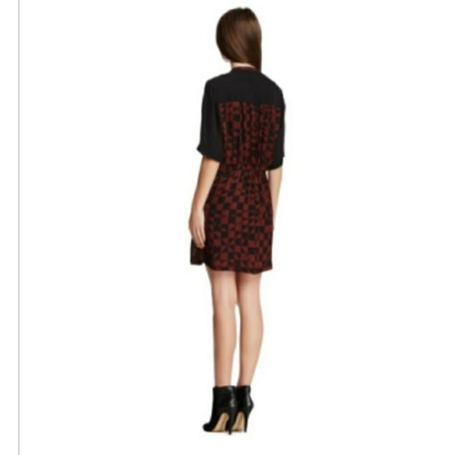 A.L.C. Red & Black Hayes Silk Short Casual Dress Size 4 (S) A.L.C. Red & Black Hayes Silk Short Casual Dress Size 4 (S) Image 2