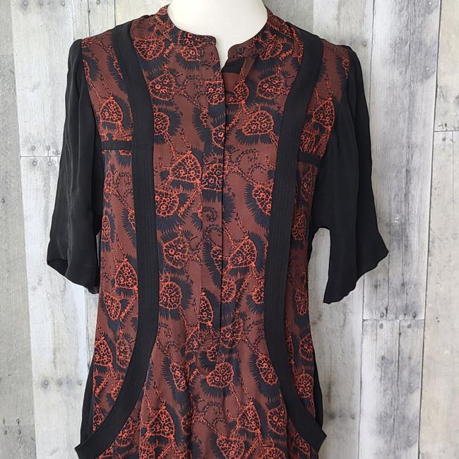 A.L.C. Red & Black Hayes Silk Short Casual Dress Size 4 (S) A.L.C. Red & Black Hayes Silk Short Casual Dress Size 4 (S) Image 3
