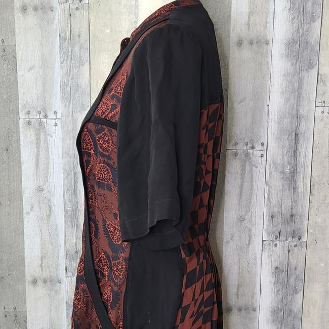 A.L.C. Red & Black Hayes Silk Short Casual Dress Size 4 (S) A.L.C. Red & Black Hayes Silk Short Casual Dress Size 4 (S) Image 4