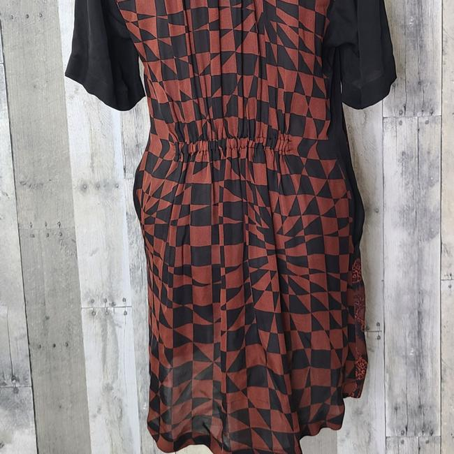 A.L.C. Red & Black Hayes Silk Short Casual Dress Size 4 (S) A.L.C. Red & Black Hayes Silk Short Casual Dress Size 4 (S) Image 5