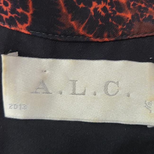 A.L.C. Red & Black Hayes Silk Short Casual Dress Size 4 (S) A.L.C. Red & Black Hayes Silk Short Casual Dress Size 4 (S) Image 6