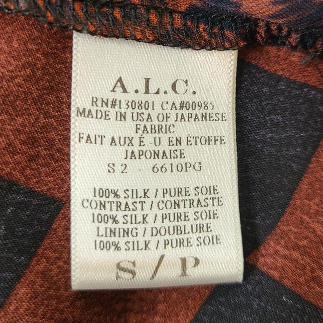 A.L.C. Red & Black Hayes Silk Short Casual Dress Size 4 (S) A.L.C. Red & Black Hayes Silk Short Casual Dress Size 4 (S) Image 7