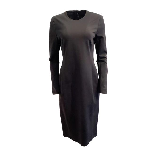 Item - Black Aline Long Work/Office Dress Size 10 (M)