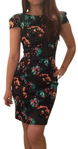 French Connection short dress flora/Jewel green Floral Jewel Green Multi Color Cocktail Date Night on Tradesy