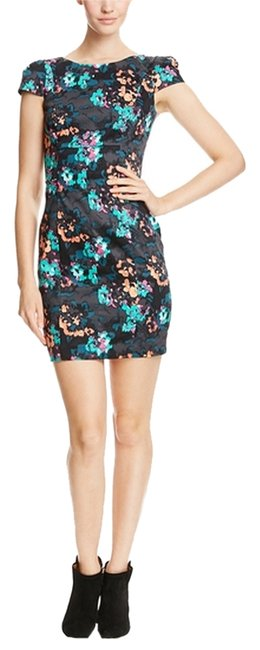 French Connection short dress flora/Jewel green Multi Color Cocktail Date Night on Tradesy
