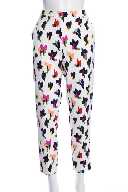 Escada Multicolor Abstract Floral-print Pants Size 12 (L, 32, 33) Escada Multicolor Abstract Floral-print Pants Size 12 (L, 32, 33) Image 1