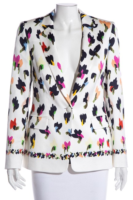 Item - Multicolor Abstract Floral-print Blazer Size 10 (M)