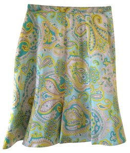 Banana Republic Skirt Pattern green yellow