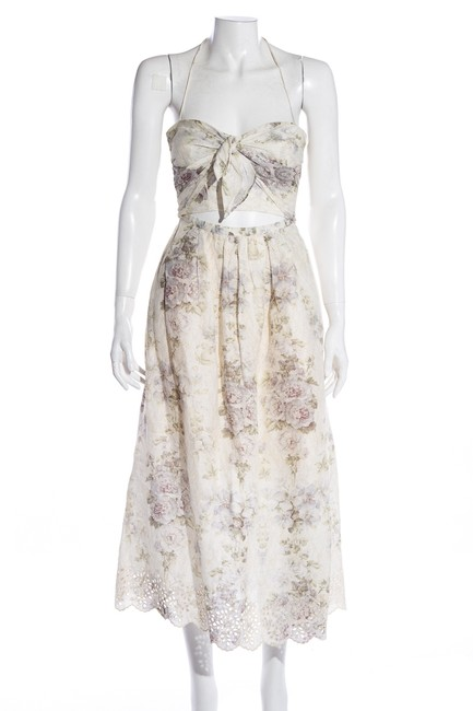 Preload https://img-static.tradesy.com/item/27750881/zimmermann-cream-halterneck-floral-print-long-mid-length-cocktail-dress-size-0-xs-0-0-650-650.jpg