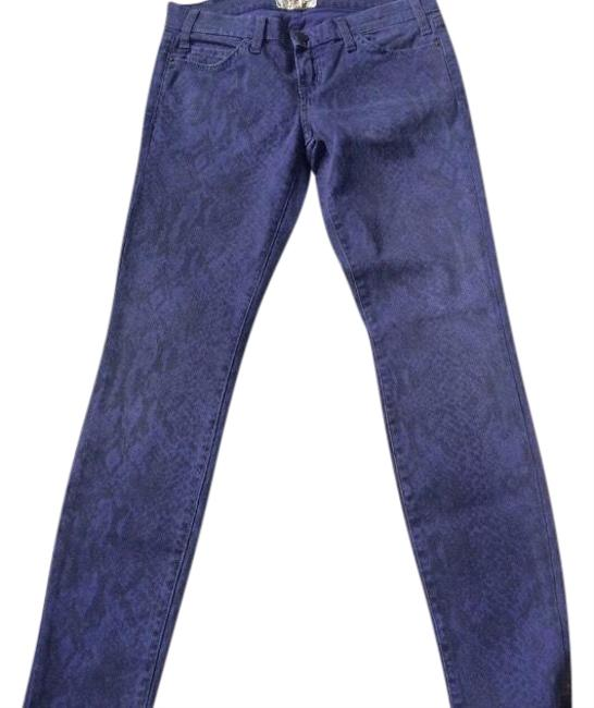 Item - Purple Medium Wash Blue Ribbon Snakeskin Skinny Jeans Size 2 (XS, 26)