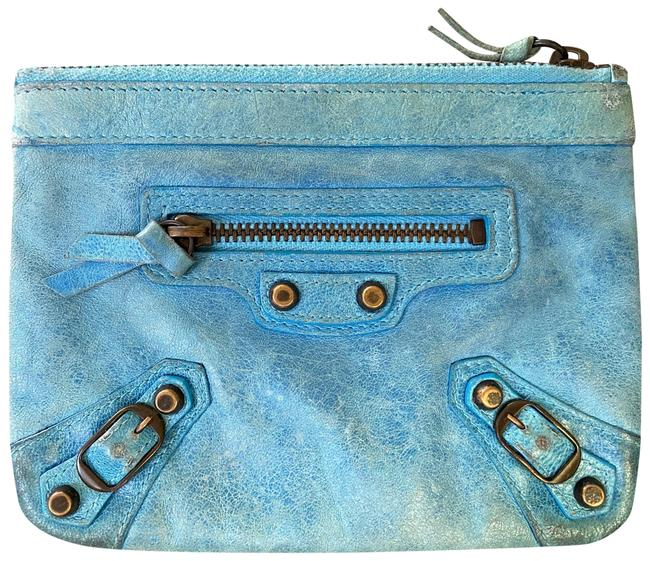 Item - Blue Cosmetic Pouch Coin Card Wallet