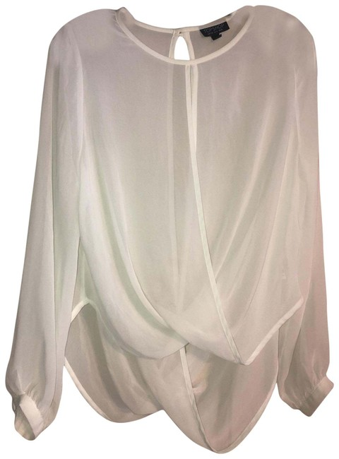 Item - White Semi-sheer Wrap Tunic Size 4 (S)