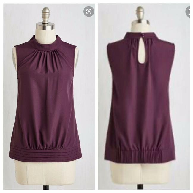 Preload https://img-static.tradesy.com/item/27751312/modcloth-purple-midtown-magnificence-in-plum-blouse-size-4-s-0-0-650-650.jpg