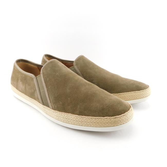 Item - Flint Taupe Suede Leather Men's Slip-on Sneakers 13 Shoes