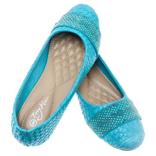 Preload https://img-static.tradesy.com/item/27751395/turquoise-woven-women-s-ballet-1400w-flats-size-us-8-regular-m-b-0-0-540-540.jpg