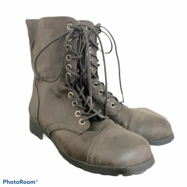 Item - Brown Combat Lace Boots/Booties Size US 8 Regular (M, B)