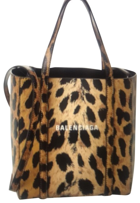 Balenciaga Everyday Xxs Leopard Beige Leather Tote Balenciaga Everyday Xxs Leopard Beige Leather Tote Image 1