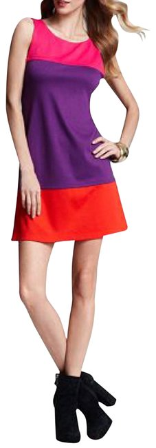 Item - Pink/Purple Haven Colorblock Shift Short Casual Dress Size 4 (S)