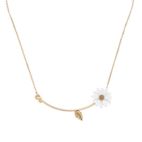 Preload https://img-static.tradesy.com/item/27751517/kate-spade-whiteyellow-o-into-the-bloom-flower-necklace-0-0-540-540.jpg