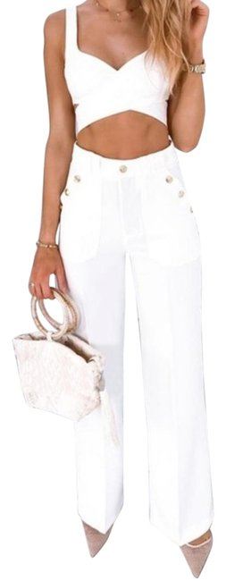 Preload https://img-static.tradesy.com/item/27751593/zara-white-high-rise-gold-buttoned-trousers-pants-size-8-m-29-30-0-3-650-650.jpg