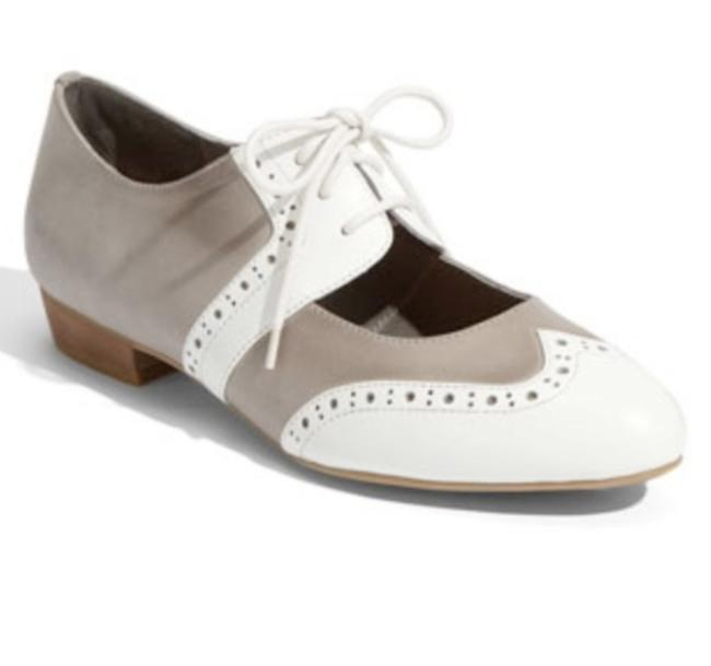 Jeffrey Campbell Gray & White Lookbook Oxfords Flats Size US 7.5 Regular (M, B) Jeffrey Campbell Gray & White Lookbook Oxfords Flats Size US 7.5 Regular (M, B) Image 1