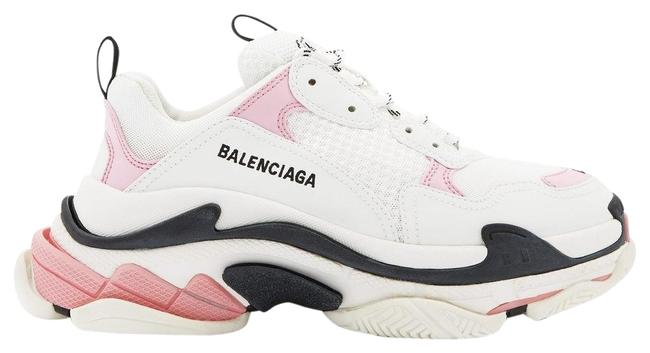 Item - White/Pink Mf Triple S Leather and Mesh Trainers Sneakers Size EU 41 (Approx. US 11) Regular (M, B)