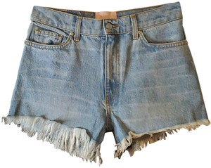 Revice Hi-rise Cut Off Shorts Blue
