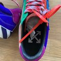 Off-White™ Blue Red New Arrow Low Vulcanized Sneakers Size EU 41 (Approx. US 11) Regular (M, B) Off-White™ Blue Red New Arrow Low Vulcanized Sneakers Size EU 41 (Approx. US 11) Regular (M, B) Image 4
