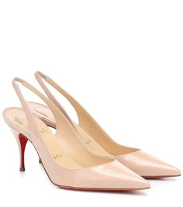 Christian Louboutin Nude Beige Soval 85 Patent Leather