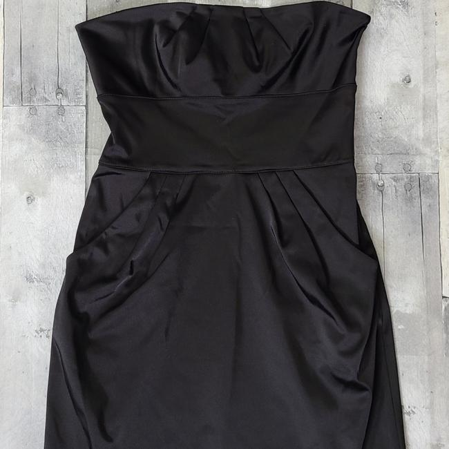Item - Black Fiorenza Strapless Mini Short Casual Dress Size 2 (XS)