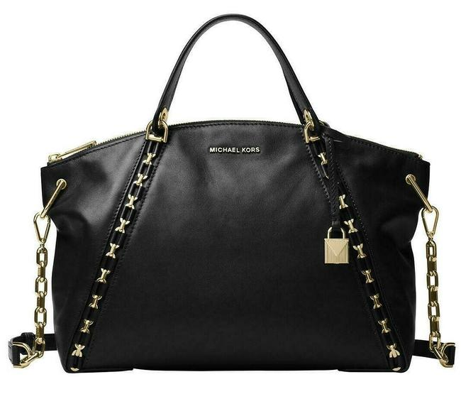 Item - Sadie Large Chained Top Zip(New with Tags) Black/Gold Hardware Leather Satchel