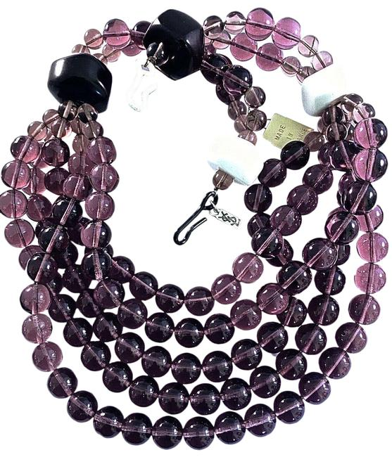 Item - Grape Colored New ✿*゚maison Gripoix For Ysl Couture Line Poured Glass Necklace