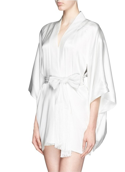 Item - Ivory L De Montparnasse Silk Robe. New with Tags M/L Short Night Out Dress Size 8 (M)