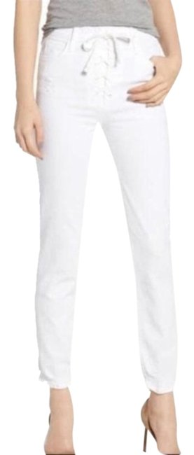 Item - White Light Wash Lace Up Dazzler Ankle Chew High Waisted Skinny Jeans Size 25 (2, XS)