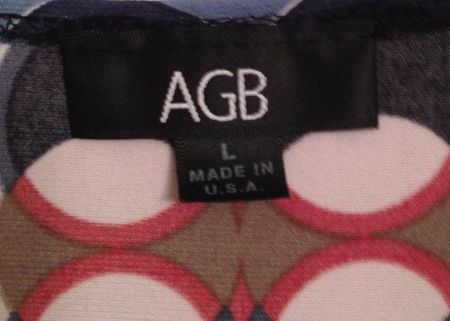 AGB Top Blue, navy, red, taupe, black, white, silver