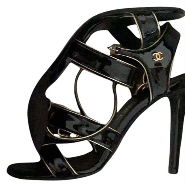 Item - Gold and Black G33476 Formal Shoes Size EU 37 (Approx. US 7) Regular (M, B)