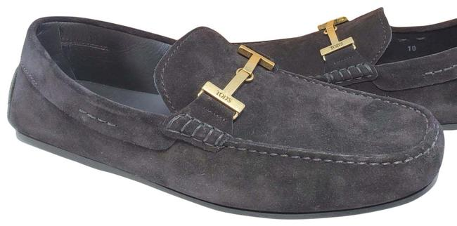 Item - Black Men's Loafers Suede Doppia T Olgo Anel Drivers Flats Size US 10 Regular (M, B)