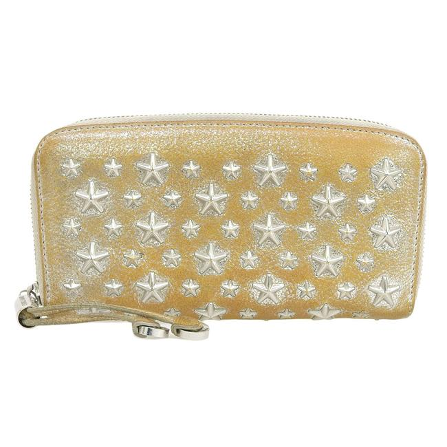 Item - Gold Long Philippa Round Zip Studded Leather Wallet