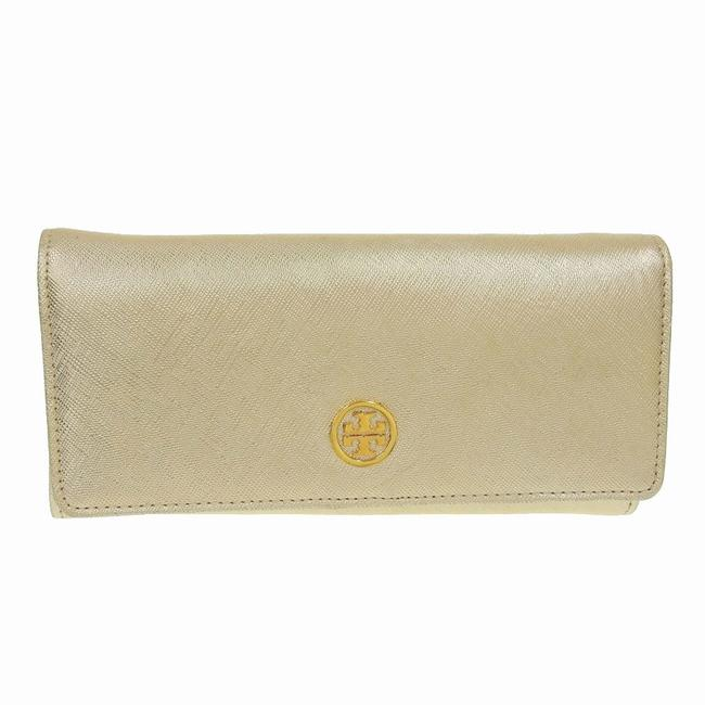 Item - Gold Long Leather Wallet